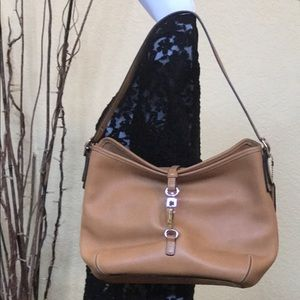 Tan Leather Coach Purse